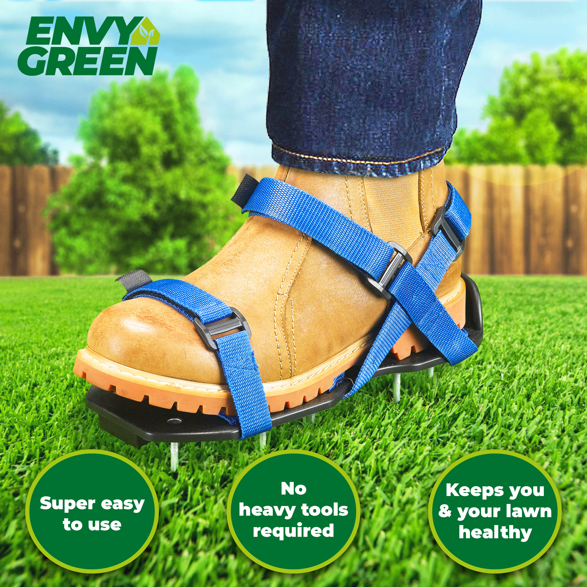 Easy to FIT & Fully Assembled Aerator Sandal Simple Fit Gardening ...